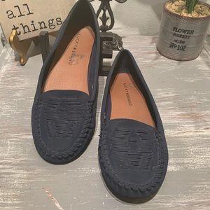 Lucky brand 'Aninah' Navy blue slip on moccasins 7